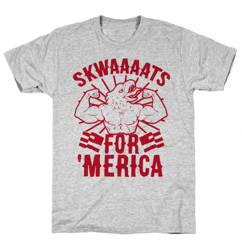 Skwaaaats For 'Merica Mens/Unisex T-Shirt