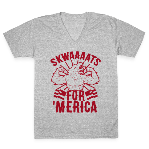 Skwaaaats For 'Merica V-Neck Tee Shirt