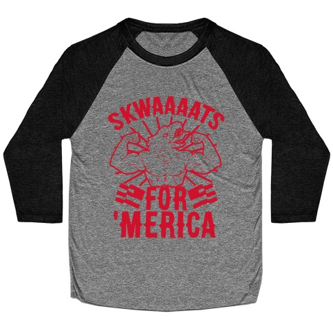 Skwaaaats For 'Merica Baseball Tee