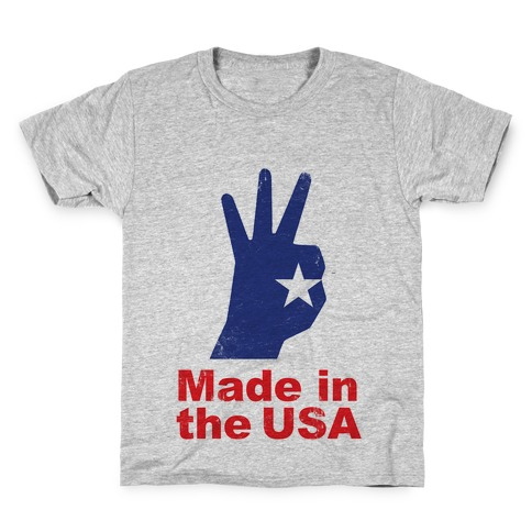 Made in the USA (Patriotic Baseball Tee) Kids T-Shirt