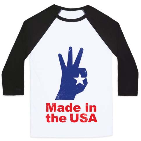 Made in the USA (Patriotic Baseball Tee) Baseball Tee