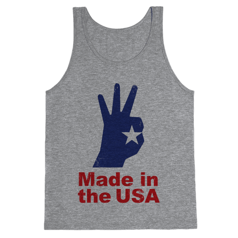 Made in the USA (Patriotic Baseball Tee) Tank Top