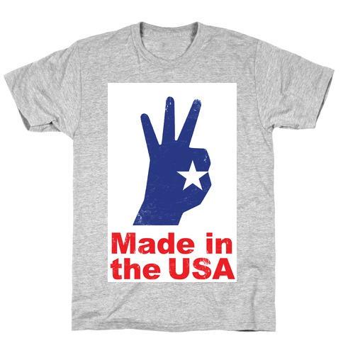 Made in the USA (Patriotic Baseball Tee) T-Shirt