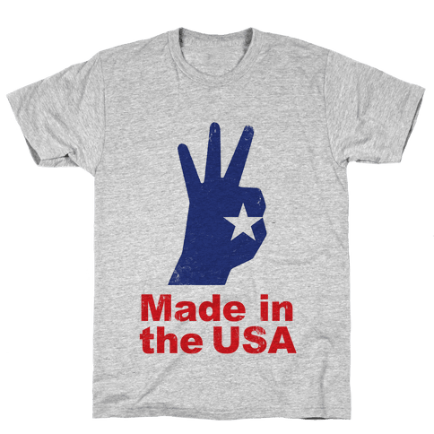 Made in the USA (Patriotic Baseball Tee) Mens T-Shirt