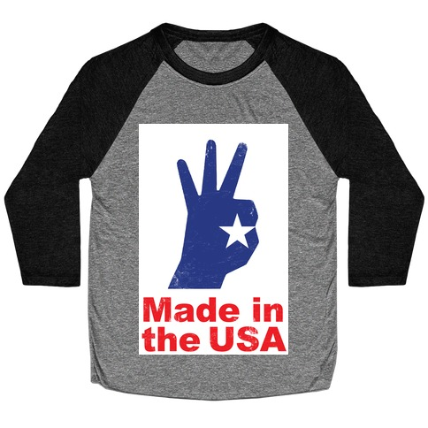Made in the USA (Patriotic Baseball Tee) Baseball Tee