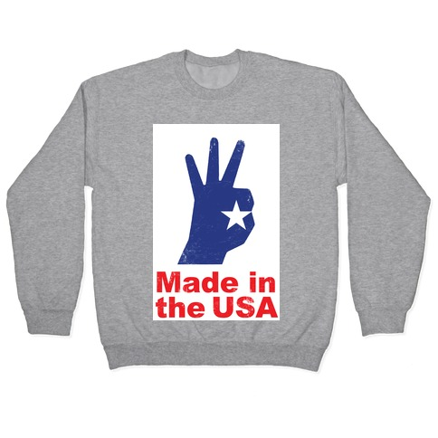 Made in the USA (Patriotic Baseball Tee) Pullover