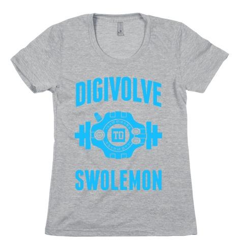 Digivolve to Swolemon! (Light Print) Womens T-Shirt