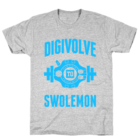 Digivolve to Swolemon! (Light Print) Mens T-Shirt