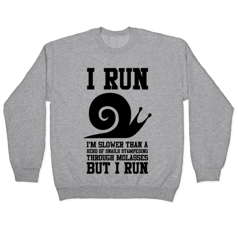 I Run Slower Than A Herd Of Snails Pullover