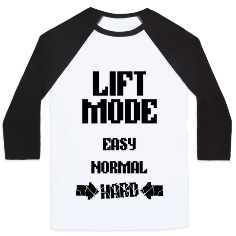 Lift Mode: HARD Baseball Tee