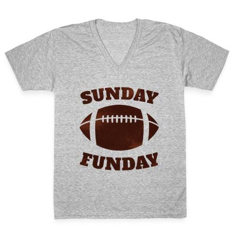 Sunday Funday V-Neck Tee Shirt