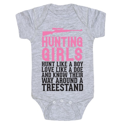 Hunting Girls Baby Onesy