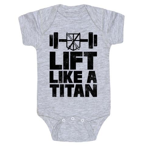 Lift Like A Titan Baby Onesy