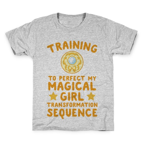 Training To Perfect My Magical Girl Transformation Kids T-Shirt
