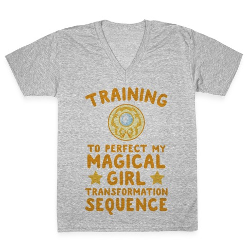 Training To Perfect My Magical Girl Transformation V-Neck Tee Shirt