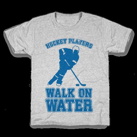 Hockey Players Walk On Water Kids T-Shirt
