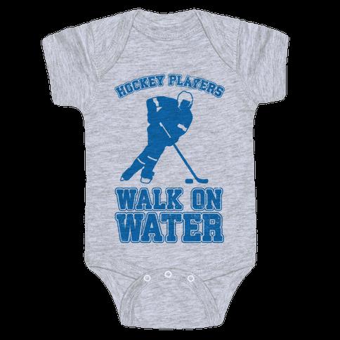 Hockey Players Walk On Water Baby Onesy