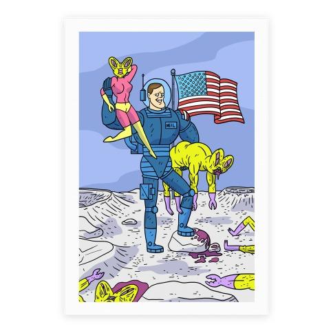 Neil Armstrong Moon Conqueror Poster