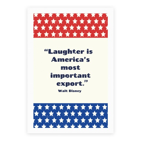 Laughter Is America's Most Important Export Poster