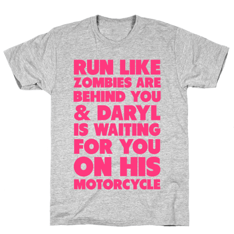 Run Like Daryl is Waiting Mens T-Shirt