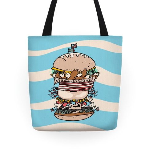 'Merican Double Decker Declaration of Food Freedom Burger Tote
