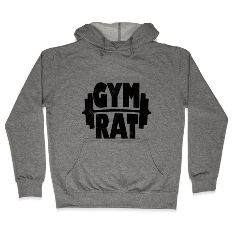 Gym Rat (tank) Hooded Sweatshirt