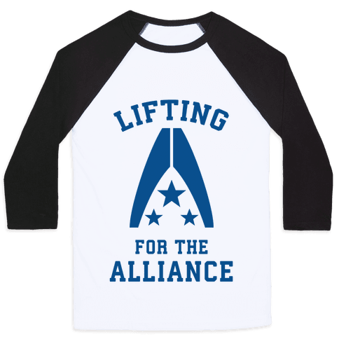 Lifting For The Alliance Baseball Tee