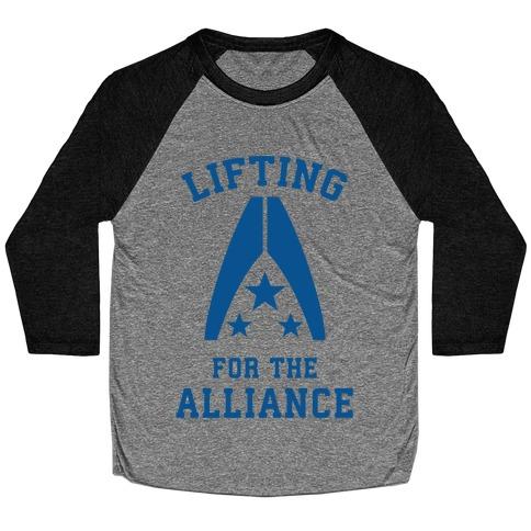 Lifting For The Alliance Baseball Tee