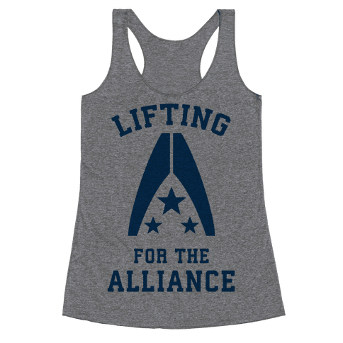 Lifting For The Alliance Racerback Tank Top