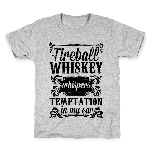 Whiskey Whispers Temptation In My Ear Kids T-Shirt