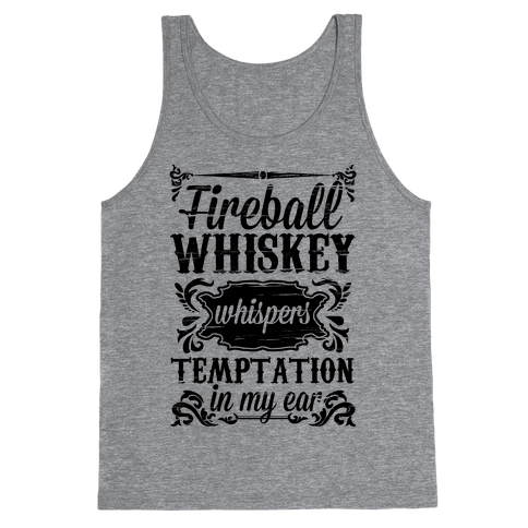Whiskey Whispers Temptation In My Ear Tank Top