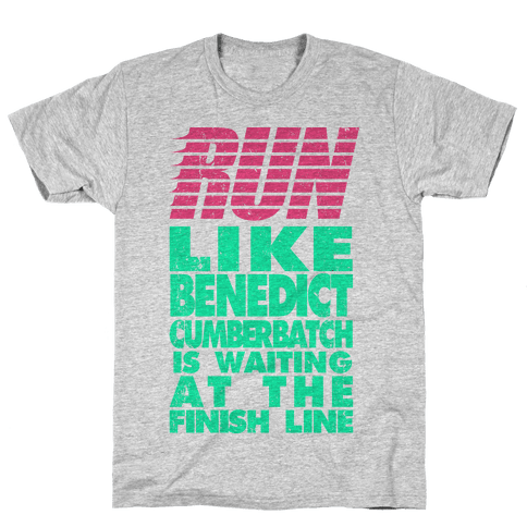 Run Like Benedict Cumberbatch Mens T-Shirt