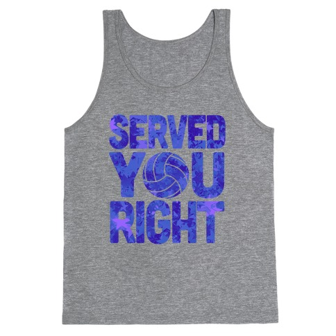 Served You Right (Blue) Tank Top