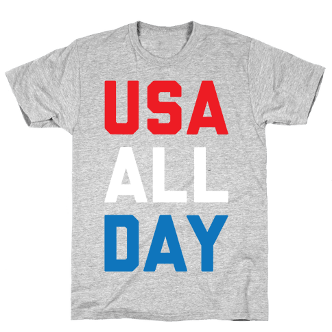 USA All Day Mens/Unisex T-Shirt