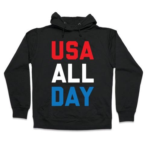 USA All Day Hooded Sweatshirt