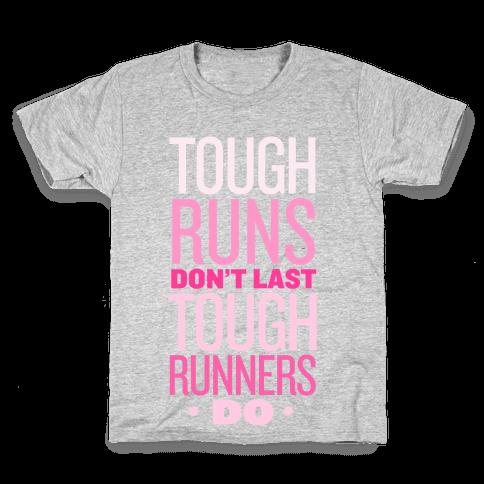 Tough Runners (Pink) Kids T-Shirt