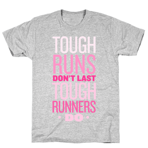 Tough Runners (Pink) Mens T-Shirt