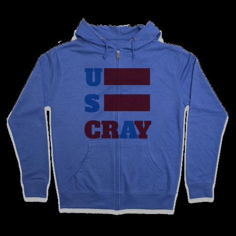 U S Cray Zip Hoodie