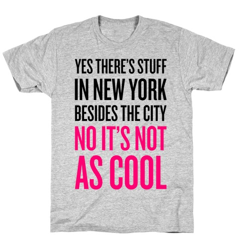 There's Stuff In New York Besides The City Mens/Unisex T-Shirt