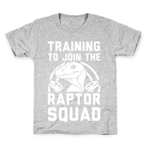 Training To Join The Raptor Squad Kids T-Shirt