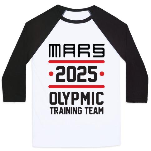 Mars Olympics Baseball Tee