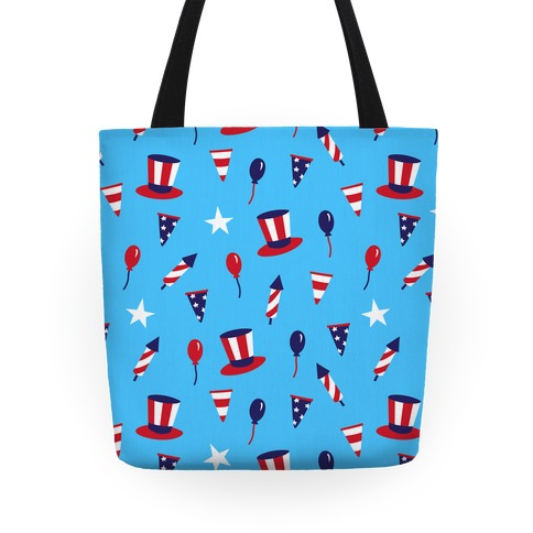 Red White and Blue Pattern Tote