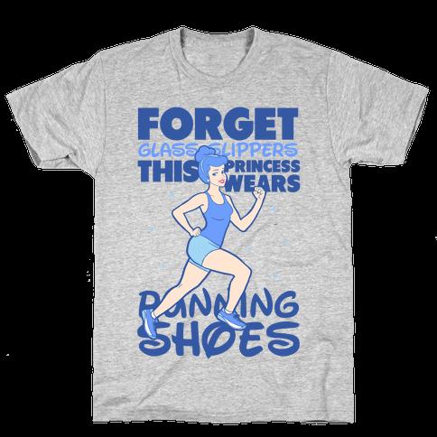 This Princess Wears Running Shoes (Dark Print) Mens T-Shirt