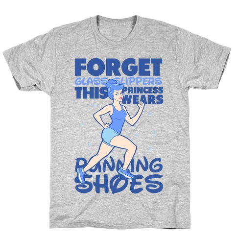 This Princess Wears Running Shoes (Dark Print) T-Shirt