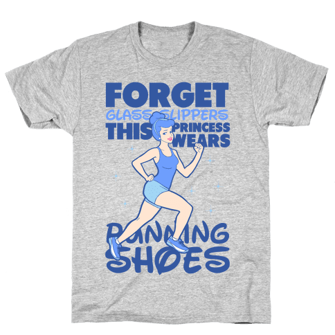 This Princess Wears Running Shoes (Dark Print) Mens T-Shirt