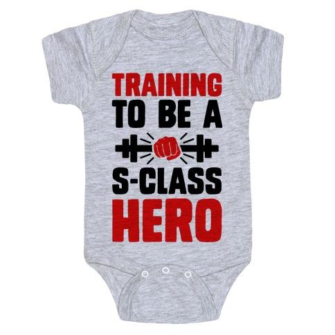Training to be a S-Class Hero Baby Onesy