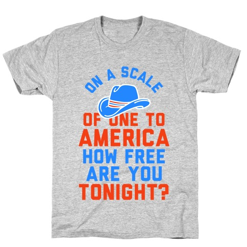 On a Scale of One To America ... (Baseball Tee) T-Shirt