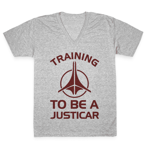 Training To Be A Justicar V-Neck Tee Shirt