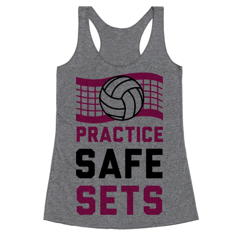 Practice Safe Sets Racerback Tank Top