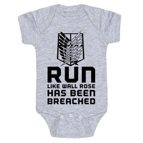 Run Like Wall Rose Has Been Breached Baby Onesy